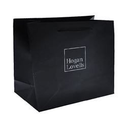 Picture of Black Matte Gift Bag- Large