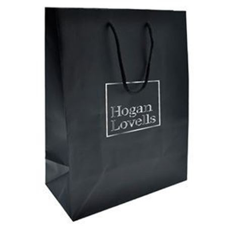 Picture of Black Matte Gift Bag without Tissue Paper