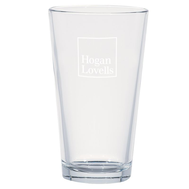 16 oz Pint Glass - Hogan Lovells US Branded Merchandise Store